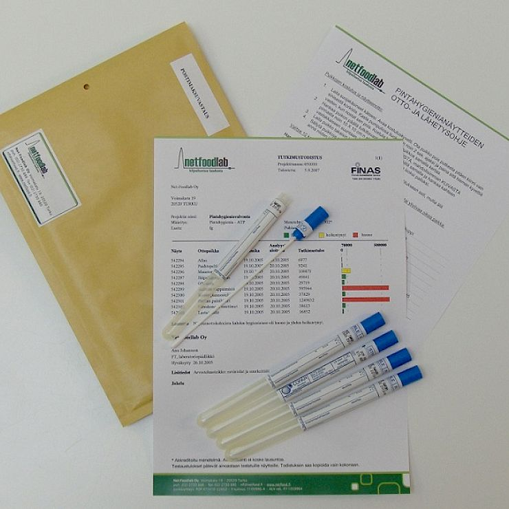 Hygienic and surface samples